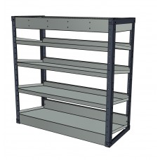 Van Shelving Unit 1000h x 565w x 435d - 4 Sloping & 1 Standard Shelf
