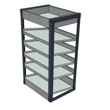 Van Shelving Unit 1000h x 565w x 435d - 5 Sloping & 1 Standard Shelf